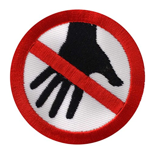 Aufnäher Aufbügler Don´t touch warnung vorsicht verbot