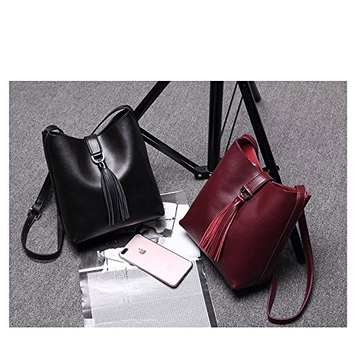 ANNE, Borsa a tracolla donna nero Red Wine Black