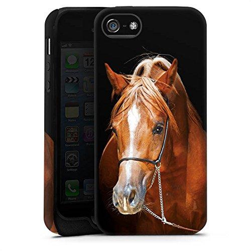 Apple iPhone X Silikon Hülle Case Schutzhülle Pferd Horse Stute Hengst Tough Case matt