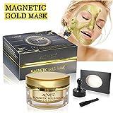 Magnet Maske Gold Glanz Magnetische Gesichtsmaske Mineralreich Anti-Stress Feuchtigkeitsspendende Anti-Aging Porenreinigung 50 ml