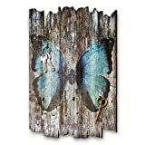 Kreative Feder Schmetterling Designer Schlüsselbrett, Hakenleiste Landhaus Style, Shabby aus Holz 30x20cm, HSB079