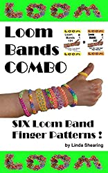 Loom Bands Combo! Six Loom Band Finger Patterns.: Six Loom Band Jewelry Patterns To Make By Hand... Without A Loom! (English Edition)