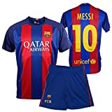 BARCELONA FC - 2016-2017 HOME KIT, OFFICIAL REPLICA MESSI CHILD'S KIT