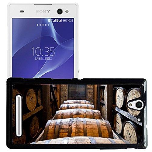 Hülle Case Schutzhülle Cover Premium Case // M00239358 Brennerei Fässer aus Holz Kegs Bourbon // Sony Xperia C3 D2533/ C3 Dual D2502 (Dual Keg)