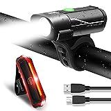 Luci Ricaricabili per Bicicletta Set Anteriore e Posteriore Luci a LED per Bici Impermeabili