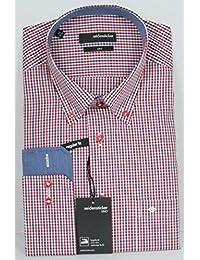 Soie Stickers HE de chemise Regular Fit 139918–Rouge/Bleu à carreaux