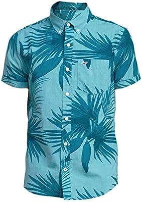 Hollister hombre Patterned Ventura camiseta, diseño de playa