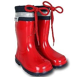Gummistiefel - Stiefel - Schuhe - Kinder Bunt mit Farb- und Größenauswahl (24, Rot)