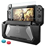 BEESCLOVER Case for Nintend Switch Rugged Rubberized Snap on TPU Hard Cover Black