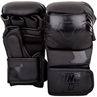 Ringhorns Charger Guantes Sparring de MMA, Unisex Adulto, Negro/Negro, S/M