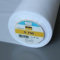 Vlieseline entretela tejida de algodón G700 blanco (80 g/m) por metro