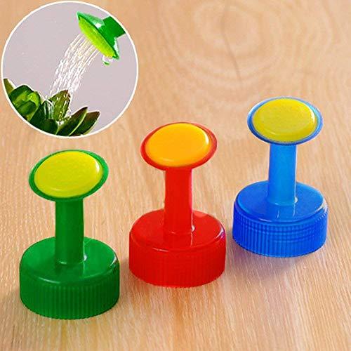 QIND Tragbar Sprinkler Waterers, 5Pcs Bewässerung für Pflanzen Spike Sprinkler PVC Kunststoff Düse Sprinkler Kopf Perfekt für wachsende Pflanzen, Setzlinge, Bonsai Samen -
