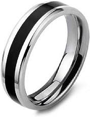 Aaishwarya Stainless Steel Black Bling Band Ring For Men/Boys