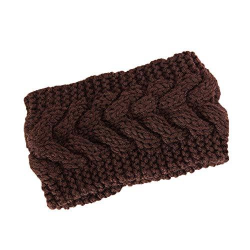 TOPGKD Beliebt Frauen-Haar-Ball-strickendes Stirnband-elastisches handgemachtes Bindungs-Entwurfs-HaarbandModisch 2019 (Kaffee)