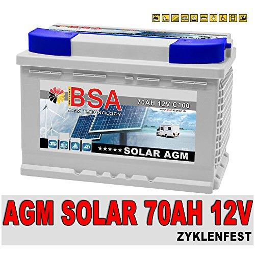 Preisvergleich Produktbild 70Ah 12V Versorgungsbatterie AGM Gel Solarbatterie Wohnmobil Mover Boot Solarakku