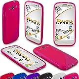 Alaskaprint S-TPU Silikon Schutzhülle Pink Transparent für Samsung Galaxy S3 i9300 i9305 G11, dünn Cover S Style, Rückschale Durchsichtig, Backcover Protektor, Tasche mit Welle S Line Original Alaskaprint