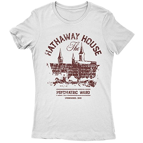 9379lw the hathaway house womens t-shirt elixir a street on friday 13 krueger halloween party nightmare thirteen 13th elm camp evil(x-largewhite)