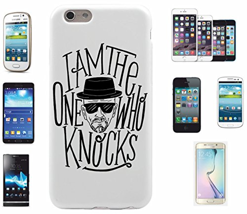"Preisvergleich Produktbild Smartphone Case HTC One M7 ""I am the One who KNOCKS- Heisenberg Kult"" Spass- Kult- DVD- Fun- JGA"
