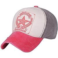 SUNNSEAN Gorras Gorra de Sol Hombres Mujeres Retro Star Béisbol Bola Gorra  Deportes al Aire Libre c69c3750f18