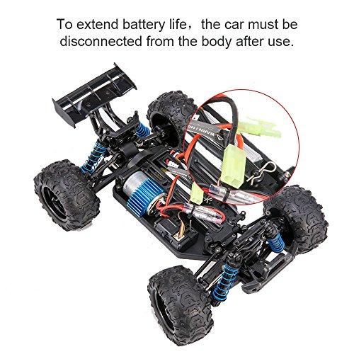 RC Auto kaufen Truggy Bild 5: VASCARS WJL00038 Maßstab 1:18 Flexibles 4WD RC Auto, Ready-to-Run Racing Buggy für Kinder & Erwachsene, 2,4 GHz Funkgesteuertes Fahrzeug mit 45 km/h Hochgeschwindigkeit, Rot*
