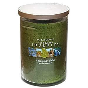 Limited Edition Rare Official Yankee Candle World Journeys Malaysian Palm Large Jar Twin Wick Tumbler 566g