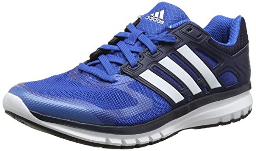 adidas Men's Duramo Elite M Blue, White and Black Mesh Sport Running Shoes - 7 UK  available at amazon for Rs.4199