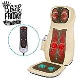 Naipo Massageauflage Rückenmassagegerät Massagesitzauflage Shiatsu Massage Rücken Nacken voller mit Wärme 3D Kneten Rolling Vibration Einstellbar Entlasten Muskelschmerzen - Home Auto Office Use