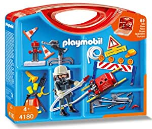 playmobil 4180 boite de jeu pompier jeux et jouets. Black Bedroom Furniture Sets. Home Design Ideas