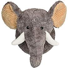 your castle de Peluche süßer Elefante Elfie para Acariciar – Pared Decorativa Animales Cabeza Trofeo para