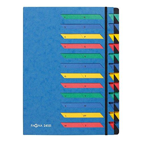 Pagna 24151-02 Deskorganizer Classic, 24-teilig, A-Z, blau