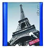 INNOVA Fotoalbum Cities PARIS - (Q488)- 60 Seiten (30 Blätter) 28 x 32 cm Fotokarton cremeweiß mit Pergamin Schutzblätter - z.B. pro Album 400 Fotos 10x15 cm oder 300 Fotos 13x18 cm - passend für alle Größen - Säurefrei pH-neutral - Einband laminiert