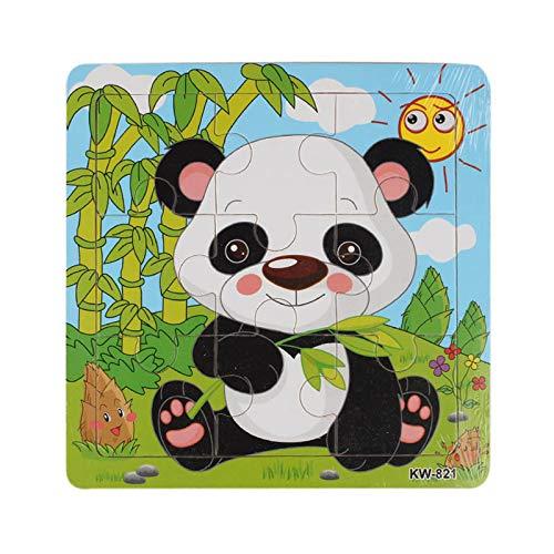 Routefuture Jouet éducatif pour Enfants Pas Cher, 9PC Puzzles avec Cadre Panda Puzzles en Bois, Cadeau d'anniversaire Educatif pour Fille et Garçon de 1 2 3 Ans et Plus
