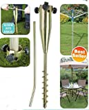 Parkland® Heavy Duty Ground Spike for Rotary Washing Line or Parasol - No Need for Concrete