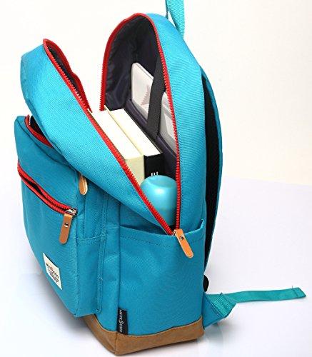 Zaini Scuola Stile Keshi Nuovi Zaini Scuola / Zaini Scuola / Signore Vintage Con Strisce Moderne Per Ragazzi Studenti Blu