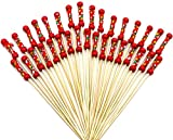 Red Bead : PuTwo Handmade Cocktail Picks 100 Counts Red Beads Cocktail Sticks Toothpicks Party Supplies - Red