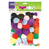 Chenille Kraft Company Pom-Poms, Assorted Sizes, Assorted Colors, Box of 100