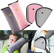 4Pack Seatbelt Pillow Car Seat Belt Covers for Kids, Adjust Vehicle Shoulder Pads Safety Belt Protector Cushio