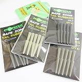 FTD–Min 20(2Packungen von 10) von Korda Safe Zone (Schwanz) für Verwendung in Karpfen Rig um (erhältlich in Kies, Silt, Ton & Weed)–Kommt auch mit 10FTD Hair Rigs, 4 packs - 1 of each colour