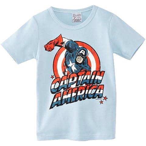 Logoshirt - Camiseta de Capitán América de manga corta infantil