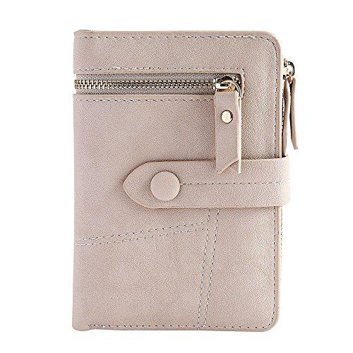 LEvifun Women Wallet ID Window Zipper Coin Purse Mini Handbag Phone Bag Money Pouch Retro Vintage Credit Card Holder Key Ring Change Purse Pocket for Women Teen Girl