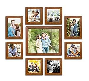 Art Street Dynamic Set of 7 Individual Wall Photo Frames Size (4-5x7, 3-5x5) Brown