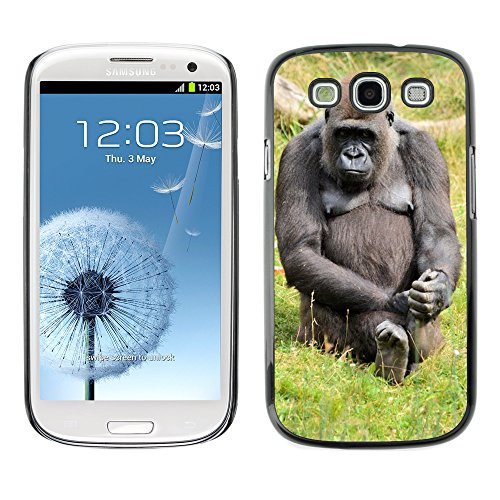 d Hart Handy Schwarz Schutz Case Cover Schale Etui // M00139020 Gorilla Zoo Serie AFFE Monkeys // Samsung Galaxy S3 S III SIII i9300 ()