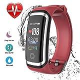 Roawon Fitness socken,Fitness-Tracker, Aktivitäts-Tracker-Herzfrequenz-Schlaf-Monitor Smart socken mit Schrittzähler Anruf-SMS-Erinnerung Bluetooth IP67 wasserdicht für Erwachsene Kinder