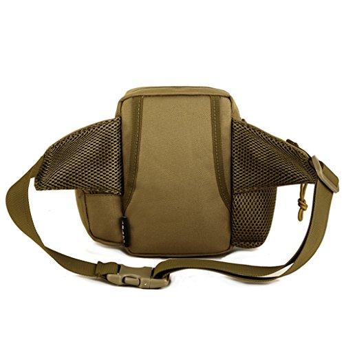 Cinmaul Tactical marsupio militare sport Pack borsa zaino per campeggio escursionismo, Uomo, Black Coyote Brown