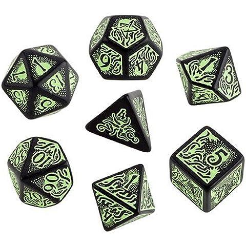 Llamada de Cthulhu - 7th Edition - set de dados negro-verde