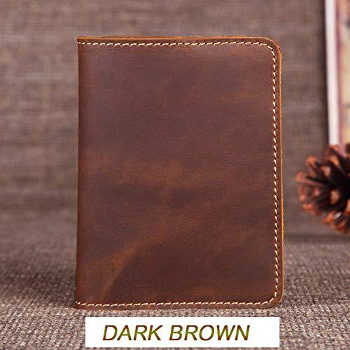 Leder-reise-pass-inhaber (YDFGG Brieftasche Vintage Herren Leder Inhaber Tasche Pass Case Wallet License Kreditkarteninhaber, Pink)