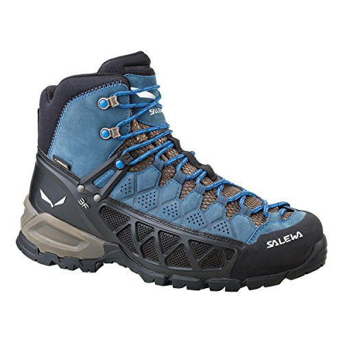 Salewa Ms Alp Flow Mid Gtx, Chaussures de Randonnée Hautes homme Smoke/Yellow