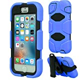 Techgear Outdoor-Schutzhülle Apple iPhone SE, iPhone 5s, iPhone 5, mit integriertem Bildschirmschutz und Multifunktions-Gürtelclip mit Ständerfunktion