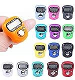 Comtechlogic® cm-4022 Finger Zähler Mini 5 Ziffern rückstellbar LCD elektronisch digital Golf Finger handgehalten Stückzähler, verschiedene Farben - 9 Random Colours