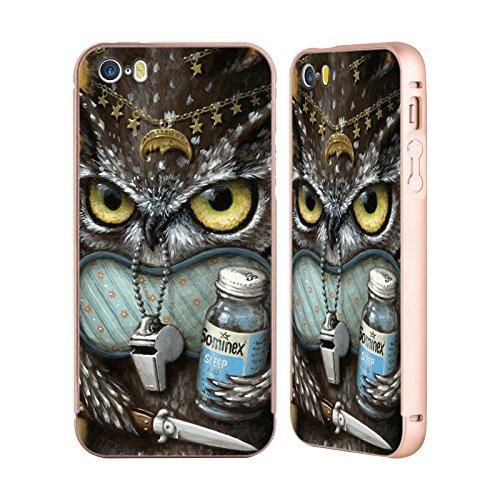 Ufficiale Jason Limon Refusuffix 04 Animali Oro Cover Contorno con Bumper in Alluminio per Apple iPhone 5 / 5s / SE Refusuffix 04
